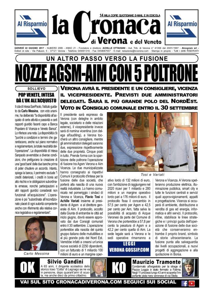 thumbnail of La Cronaca di Verona 22 giugno 2017