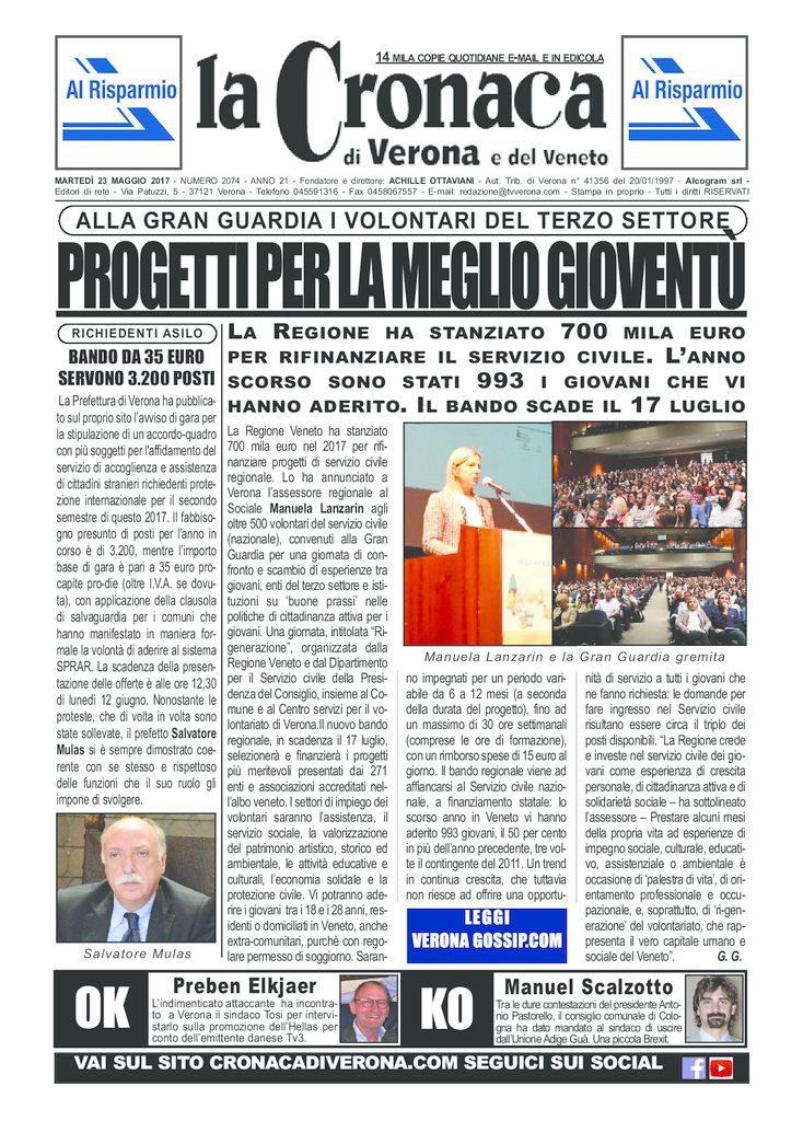 thumbnail of La Cronaca di Verona 23 maggio 2017