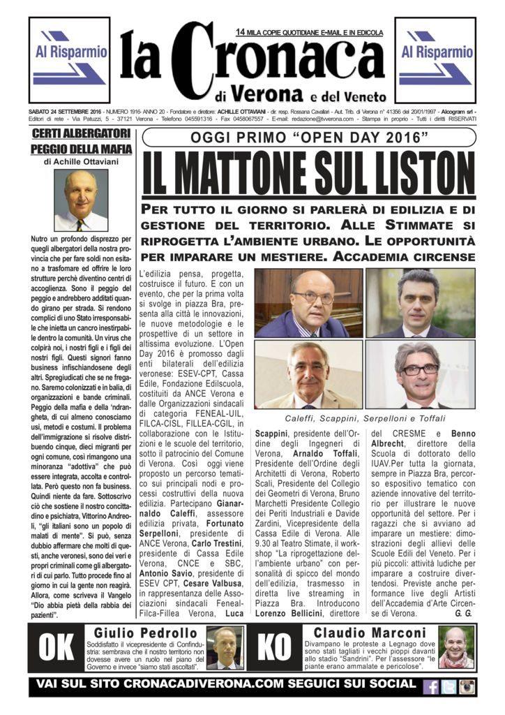 thumbnail of La Cronaca di Verona 24 settembre 2016