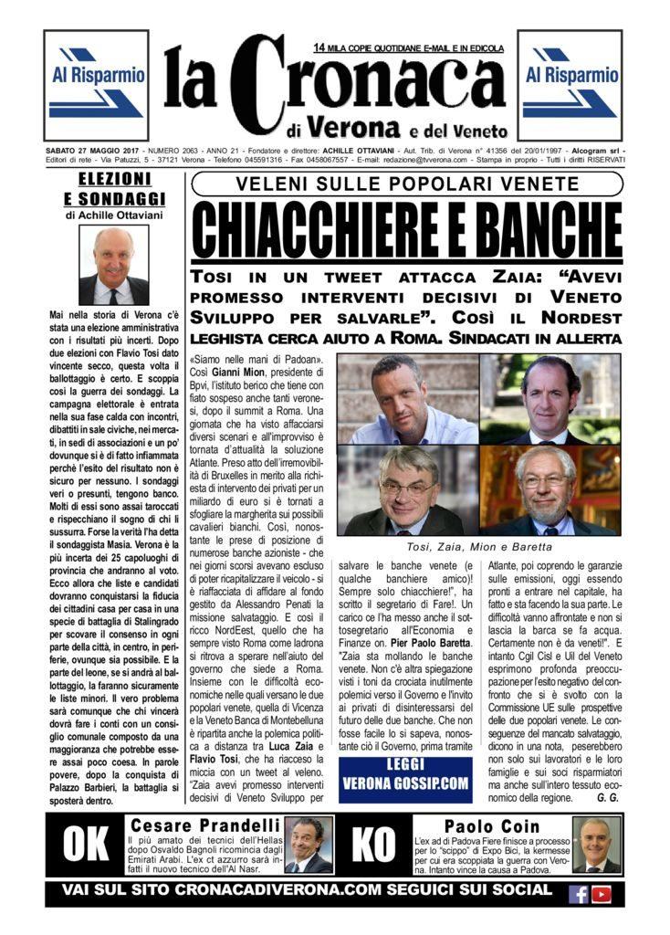 thumbnail of La Cronaca di Verona 27 maggio 2017
