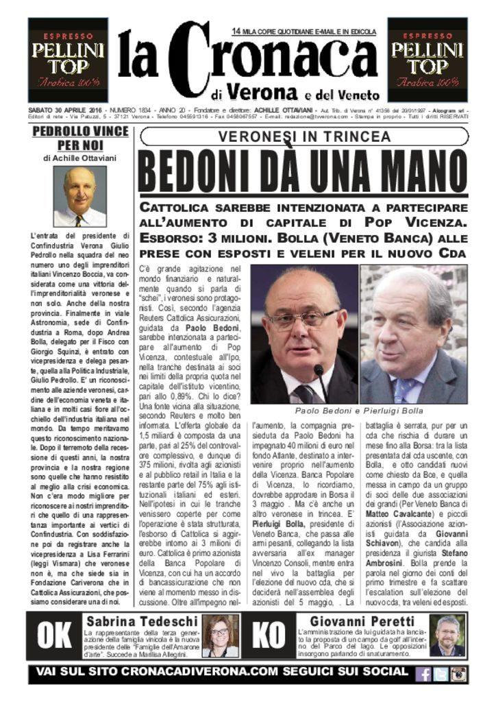 thumbnail of La Cronaca di Verona 30 aprile 2016