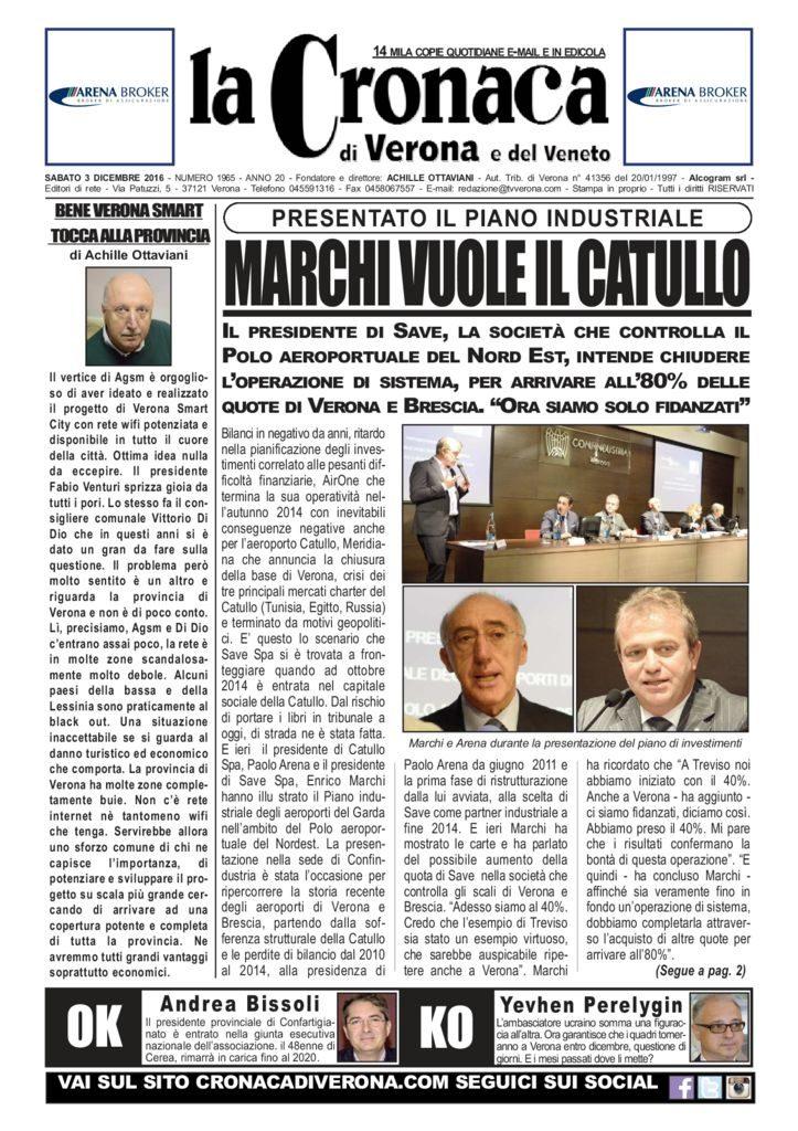 thumbnail of La Cronaca di Verona 3 dicembre 2016