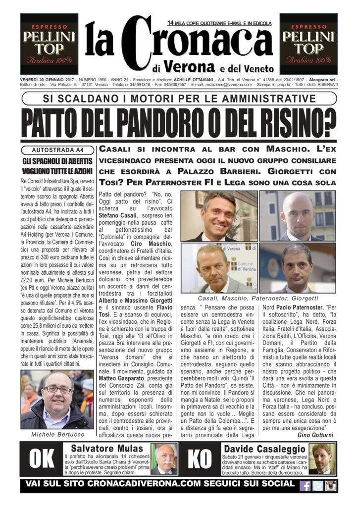 thumbnail of La Cronaca di Verona 20 gennaio 2017