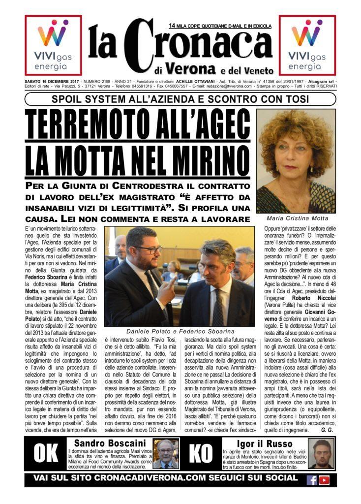 thumbnail of La Cronaca di Verona 16 dicembre 2017