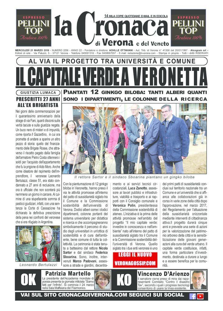 thumbnail of La Cronaca di Verona 21 marzo 2018