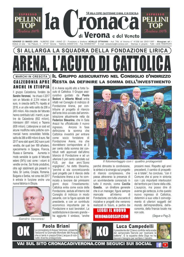 thumbnail of La Cronaca di Verona 23 marzo 2018