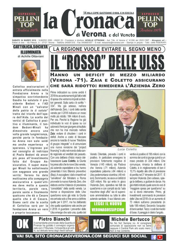 thumbnail of La Cronaca di Verona 24 marzo 2018